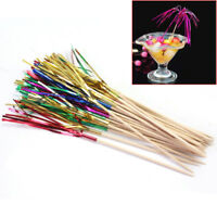 40Pc Colorful Cocktail Drink Picks Stick Party Dessert Decor for Bar Coffee Shop