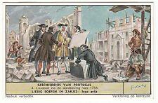 CHROMO LIEBIG GESCHIEDENIS VAN PORTUGAL LISSABAN NA DE AARBDEVING VAN 1755