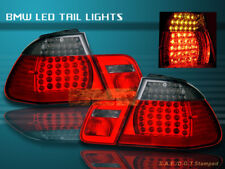 2000-2003 BMW E46 330 328 325 TAIL LIGHTS LED 2DR RED/SMOKE 2001 2002