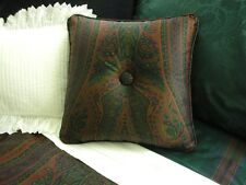 NEW Custom Ralph Lauren Greycliff Paisley Throw Pillow 1 Button