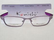 KONISHI Lite KS1633 M.PURPLE Unisex Eyeglass Frame RXable 51mm 18mm 140mm JAPAN