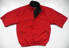 FOOTJOY DRYJOYS FJ MENS XS 1/2 ZIP PULLOVER JACKET COAT RED EMBROIDERED LOGO