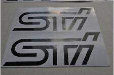 2 X Subaru STI WRX Impreza Carbon Fibre sticker self adhesive sign vinyl