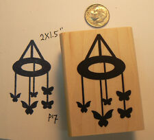 Baby Butterfly mobile rubber stamp p17