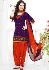Elegant Crepe Printed Patiala Unstitched Dress Material Suit.No VAR1868