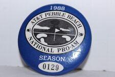 Vintage Pebble Beach Golf Club Badge Pin Button AT&T Pro-AM 1988 Season #0129