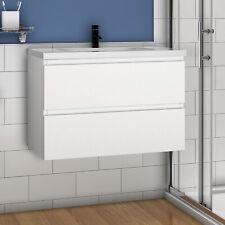 Badmöbel Set Waschtisch mit Unterschrank Becken Weiß 50 60 80 100 120cm