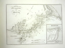 1825 ANTIQUE MAP ANCIENT Bosporus Thrace BULGARY  HISTORY ENGRAVING ARCHEOLOGY