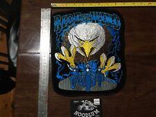 Eagle Harley Davidson Large biker back patch LIVE-TO-RIDE-EMBROIDERD-BACK-PATCH