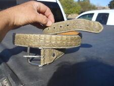 """Vintage Faux Crocodile Leather Belt sz 42 48"""" Long"""