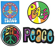 Peace Logo sign hippie custom clothing for jeans t shirts Lot 4 iron on Patches