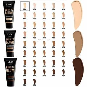 NYX BORN TO GLOW Naturally Radiant Foundation `PICK 1 COLOR`