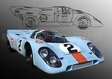 1969 Porsche 917K Group 6  WSC Le Mans Vintage Classic Race Car Photo CA-1108