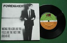 """Foreigner Waiting For A Girl Like You / Cold As Ice + P/S K11696 7"""" Single"""