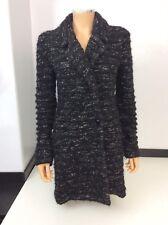 Isabel Marant Long Wool Coat Jacket Size 40 Uk 12 Black & Grey Warm Winter Vgc