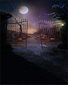 Haosphoto Halloween Backdrop 5X7FT Horrible Moon Night Hallowmas Vinyl Backdrops