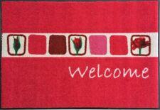 Waschbare Fußmatte Rosen - step in pink ca 60 x 85 cm Wash+Dry Fußabstreifer