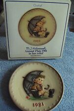 Hummelgoebel1981 Collector Plate/Box/Hum274/W Germany-Umbrella Boy 11th #