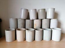 More details for 16 old off white stoneware jam pots job lot