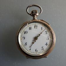 Schöne Damentaschenuhr Silber um 1900 - SEHR GUT ERHALTEN (55859)