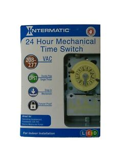 Intermatic T104 40A 24-Hour Mechanical Time Switch - Gray