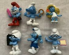 Smurf McDonalds 2011-13 3in Figures Lot of 6