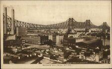 New York City Blackwells Island Bridge c1910 Postcard