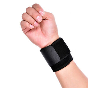 2X Adjustable Sports Wrist Brace Wrap Bandage Band Support Gym Strap Wristband