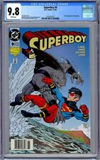Superboy #9 CGC 9.8 Newsstand (Nov 1994, DC) 1st Full Appearance of King Shark.
