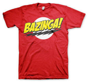 SALE ! Official Licensed Bazinga Super Logo Unisex Big Bang Theory T-Shirt XXL