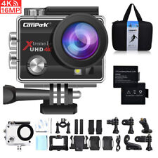 Campark 4K 16MP Sports Camera Waterproof WiFi Action Camera LCD Screen Camcorder