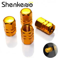 4PC Aluminum Tire Wheel Rims Stem Air Valve Caps Tyre Cover Car Truck Bike Gold