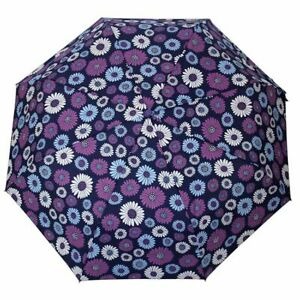 Floral Automatic Umbrella For Rainy Sunny Proof 3-Fold Light Durable Parasol New