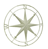 Scratch & Dent Compass Rose Lightly Distressed Metal Wall Hanging