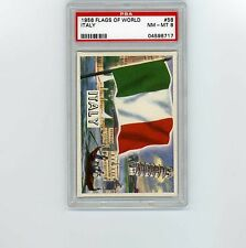 1956 Topps Flags of the World #58 Italy-PSA 8 Near Mint to Mint