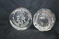 Kosta Boda Snowball bougeoir glass Scandinavian & Dartington Crystal Paperweight