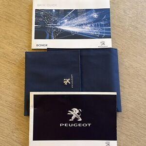 PEUGEOT BOXER HANDBOOK MANUAL BASIC GUIDE & NEW SERVICEBOOK & WALLET  GENUINE