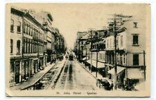 St John Street Quebec City Canada 1910c postcard