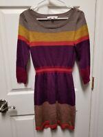 Ann Taylor Loft Women's Striped Sweater Dress, size S, EUC!