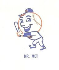 1972 New York Mets Shea Stadium Ticket Order Envelope with Mr Met    ac