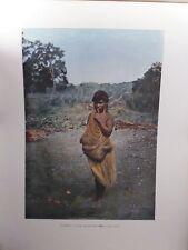 AUSTRALIE/Gravure 19°in folio couleur/Femme Australienne portant son enfant