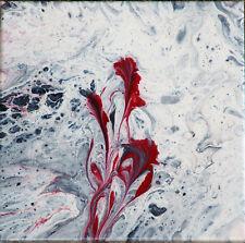 QUADRO ASTRATTO POURING ACRILICO SU TELA cm 20X20 fluid painting IDEA REGALO !!!