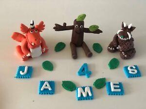 Unofficial Gruffalo Zog Stickman personalised birthday cake topper decoration