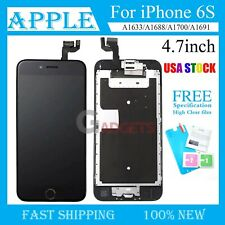 Black For iPhone 6s LCD Screen Complete Replacement Touch Digitizer +Home Button