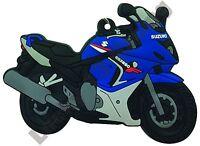 Rubber key ring depicting Suzuki GSX 650 F motor bike cycle gift keyring chain