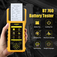 AUTOOL BT760 Car Battery Tester Auto Start Charging System Test With Printer