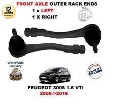 FOR PEUGEOT 3008 1.6 VTi 2009->2016 FRONT AXLE OUTER LEFT + RIGHT TIE ROD ENDS