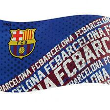 Barcelona Licensed  Football Flag 5x3Ft Flag Pole Windsocks Use.