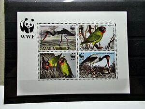 Sambia 1996 - Block 20 - WWF - Vögel - ** - Mi 200,00
