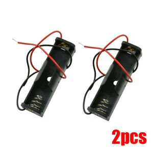 """Battery Holder Case Box  with 6"""" Wire Leads  for 1X AA Battery 1.5V"""